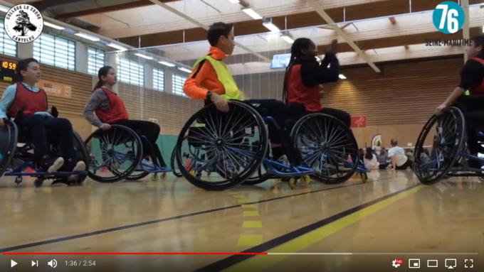 Image sur la sensibilisation au handicap (Basket Fauteuil)